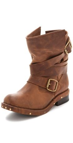 Jeffrey Campbell Brit Wrap Strap Bootie. i die, can i please get these in black they are PERF!