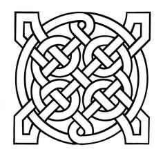 Easy Celtic Pattern Coloring Pages