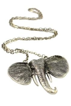 Our Antique Silver colouring our Elephant Necklace is a statement piece that will gain you compliments wherever and whenever you wear it.  This accessory works with every outfit, grab yours today! #elephant #jewellery #accessory