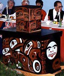 Master of the Black Field no. 1. Panels 3 & 4 (Bill Reid's Mortuary Box). Canadian Museum of Civilization