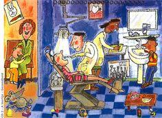 praatplaat tandarts Drawing For Kids, Painting For Kids, Kindergarten Themes, Everyday Activities, Speech Therapy, Art Education, Craft, Illustration, Artwork