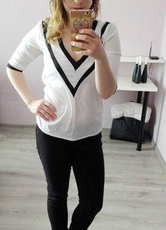 Kup mój przedmiot na #vintedpl http://www.vinted.pl/damska-odziez/bluzki-z-3-slash-4-rekawami/16819652-biala-elegancka-bluzeczka-z-duzym-dekoltem