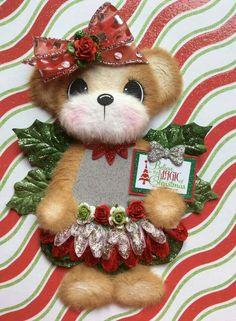 Christmas tear bear girl