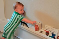 Great idea for baby book storage & other organization/craft area ideas