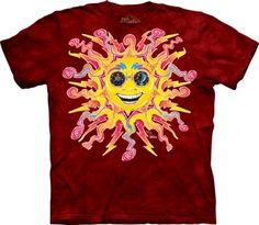 Sun & Moon & Space T Shirts > Batik Sun - T Shirt The Mountain