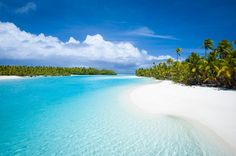 Australia South Pacific Cook Islands Aitutaki Landscape Tropical Forest Papy And Coconut Trees White Sandy Beaches Desktop Hd Wallpaper Great Places, Places To See, Beautiful Places, Simply Beautiful, Vanuatu, Norfolk, New Zealand Flights, Air New Zealand, Cook Islands