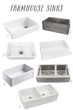 Click through for sources for beautiful Farmhouse Sinks - Apron-Front Sinks and lots of kitchen design inspiration photos!