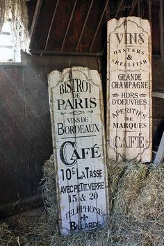 Image result for faux french storefront signs for decoration