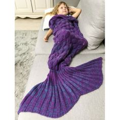 SHARE & Get it FREE | Chunky Crochet Knit Mermaid Blanket Throw For KidsFor Fashion Lovers only:80,000+ Items·FREE SHIPPING Join Dresslily: Get YOUR $50 NOW!