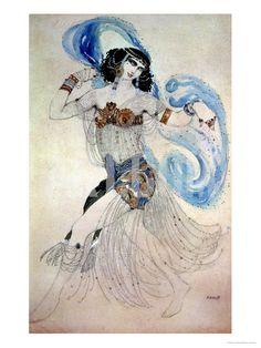 Leon Bakst -  Dance of the Seven Veils (Costume Design for Salome), 1908