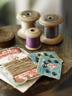 Wooden spools of ❤thread