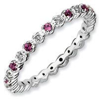 0.39ct Warm Silver Stackable Rhod. Garnet & Diamond Ring. Sizes 5-10 Available Jewelry Pot. $58.99. Your item will be shipped the same or next weekday!. 30 Day Money Back Guarantee. All Genuine Diamonds, Gemstones, Materials, and Precious Metals. 100% Satisfaction Guarantee. Questions? Call 866-923-4446. Fabulous Promotions and Discounts!. Save 61%!