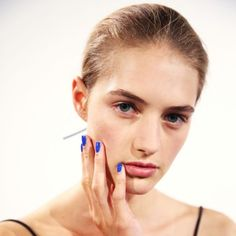 Nail Polish Color To Try: Cobalt - In sea of minimalist neutral lacquers there's something so chic about blindingly bright blue nails. Take a cue from Reed Krakoff and skip the temptation to indulge in fussy designs or nail art extras. Pair the simple look with a frock of the same color and you'll be emanating It-girl vibes.Photo: Essie