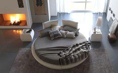 Camas redondas para la decoración de dormitorios  |  DECOFILIA.com