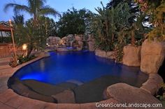 Beautiful Night Scenery Viewed From Swimming Pool Of Luxury Mansion Costing In Los