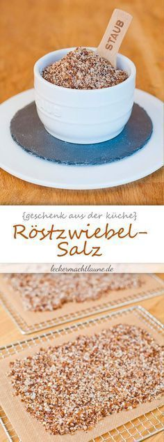 Röstzwiebel-Salz {dörrwoche An insanely aromatic salt that refines many dishes: roasted onion salt Cuisines Diy, Kneading Dough, Sauce Barbecue, Roasted Onions, Party Buffet, Vegetable Drinks, Kitchen Gifts, Smart Kitchen, Spice Mixes
