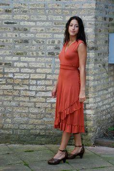 Ruffled Wrap Dress by yanadee on Etsy, $140.00