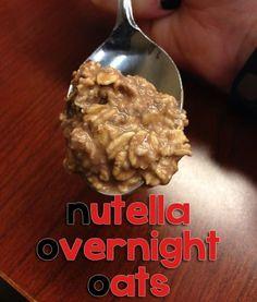 Nutella Overnight Oats  #lowcal #4ingredients #easybreakfast