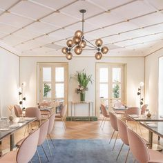 GUBI // The Whitegrass Restaurant in Singapore is fully furnished with the Beetle Chairs in soft and earthy tones.