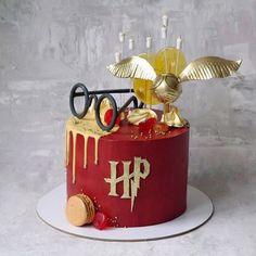 Harry Potter Snacks, Harry Potter Cupcakes, Harry Potter Halloween, Harry Potter Theme Cake, Harry Potter Motto Party, Gateau Harry Potter, Cumpleaños Harry Potter, Harry Potter Birthday Cake, Elegant Birthday Cakes