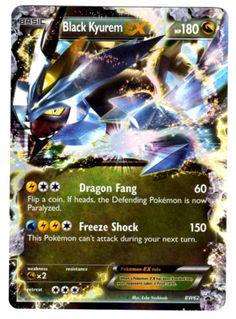 Rare Pokemon EX Cards | ... Black Kyurem EX Ultra Rare Holo Legendary Pokemon Card Promo BW62