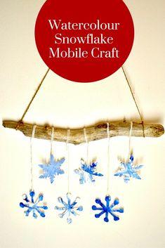 Watercolour Snowflake Mobile Craft
