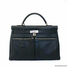 dea6fb4d3d1d AUTHENTIC HERMES 40cm Black Kelly Lakis in Swift Leather  Hermes   KellyLakis40cm Hermes Kelly Bag