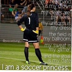 YEAH!!!! I AM TOTALLY A SOCCER PRINCESS!!!⚽