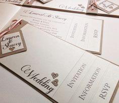 Cheap cheque book style wedding invitations