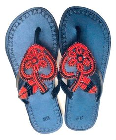 f6252aab3574 Handmade Leather and Bead Sandals