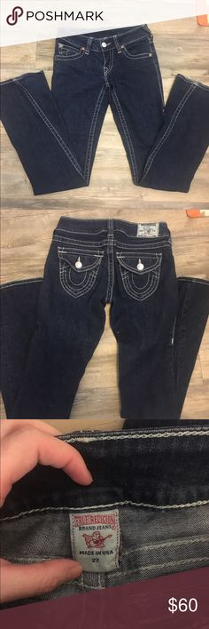 Like new True Religion jeans In great condition, a very soft denim, have a slight flare, and some stretch. True Religion Jeans
