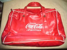$75 SOLD---VINTAGE COCA COLA COKE BAG INSULATED FROM THE 1950'S