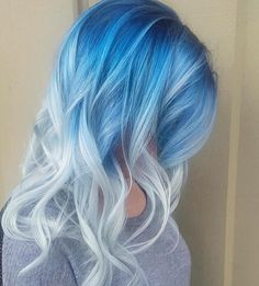 New desing 30 icy light blue hair color ideas for girls - New hairstyles trends .-New Blue Hair Color Ideas Light Blue Hair, Hair Dye Colors, Ombre Hair Color, Cool Hair Color, Light Blue Ombre Hair, Fall Hair Colors, Hair Color For Black Hair, Green Hair, White Hair