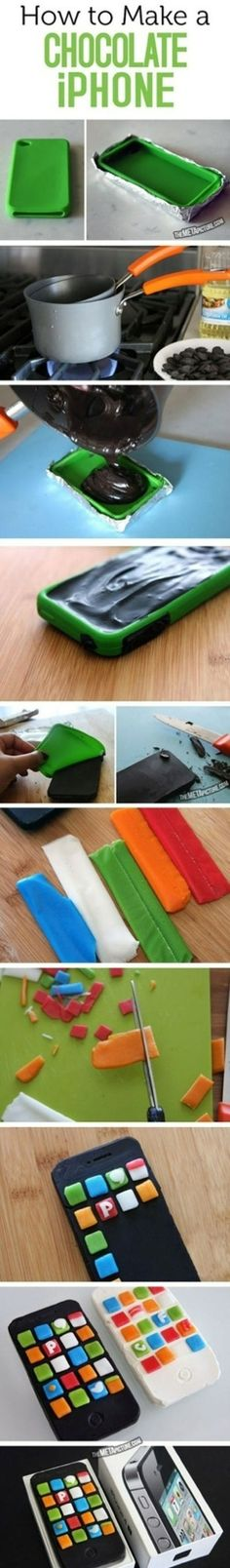 Awesome DIY to make an edible iPhone