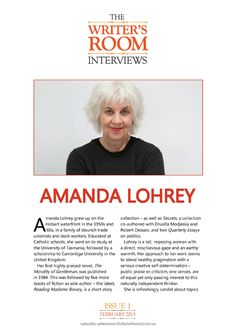 The Writer's Room Interviews Issue 1 Amanda Lohrey
