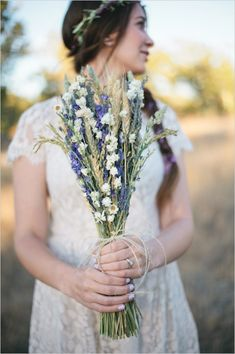 lavender and wild flower bouquet bridesmaid