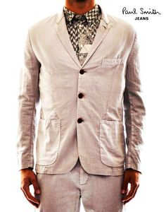Linen Jacket by Paul Smith Jeans in Marsili Store SS Collection. Now on #sale http://www.marsilistore.com/abbigliamento/uomo/giacca-2-3-bott.html