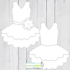 Tutu Dress Banner Templates  2 Total  by thelittledabbler on Etsy