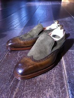 Edward Green Wigmore 888 last, chameleon antique & loden suede  www.facebook.com/...