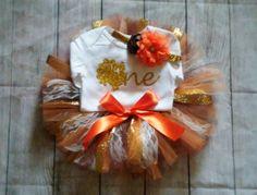 Thanksgiving birthday tutu outfit, cake smash, photo prop, customizable, turkey