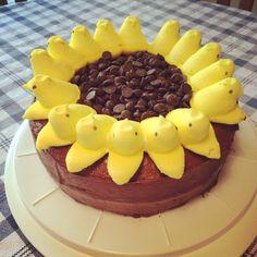 Sunflower Peep cake