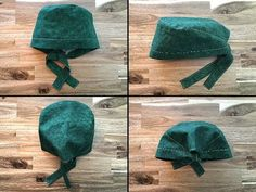 This tutorial will show you how to put together a basic Scrub / Surgical Cap that doesn't require elastic. **UPDATE** If you do want to add elastic, if you w. Scrubs Pattern, Scrub Hat Patterns, Sewing Patterns Free, Free Pattern, Pattern Sewing, Clothes Patterns, Free Sewing, Surgical Caps, Easy Face Masks