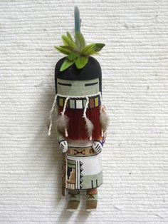 Old Style Hopi Carved Longhair Redbeard Traditional Rain Dancer Katsina Doll by Wayland Namingha