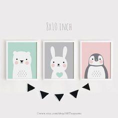 Imprimibles infantiles arte conjunto de 3 habitación bebé