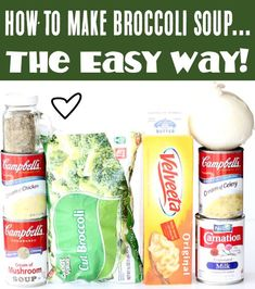 Broccoli Cheese Soup Recipes - Easy Crockpot Dinner! Are you ready for the tastiest way to warm up on a chilly day? This easy soup is your answer! Go grab the recipe and give it a try this week! Delicious Crockpot Recipes, Easy Soup Recipes, Slow Cooker Recipes, Easy Dinner Recipes, Fall Recipes, Dinner Ideas, Crockpot Broccoli Cheddar Soup, Broccoli Cheese Soup, Cheese Soup Recipe Easy