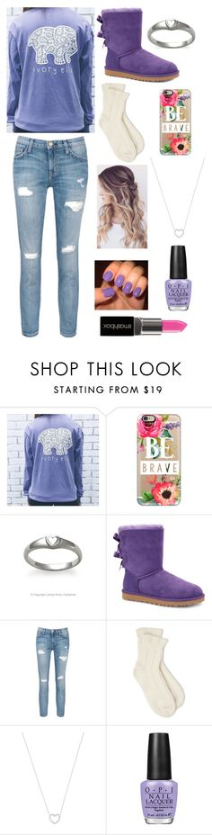 """""""courage doesn't mean you don't get afraid, courage means you don't let fear stop you - Bethany Hamilton"""" by emmaks9 ❤ liked on Polyvore featuring Casetify, Avery, UGG Australia, Current/Elliott, Falke, Tiffany & Co., OPI and Smashbox"""