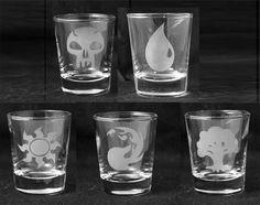 Magic the Gathering - Etched Shot Glass Set