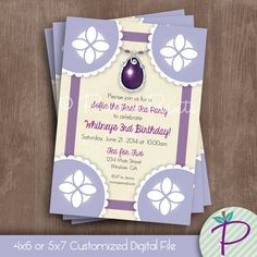 Sofia the First Invitation, Sofia the First Birthday Party Printable Invite, Sofia the First Dress & Amulet
