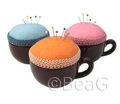 Pincushions (Speldenkussens) by Made by BeaG, via Flickr