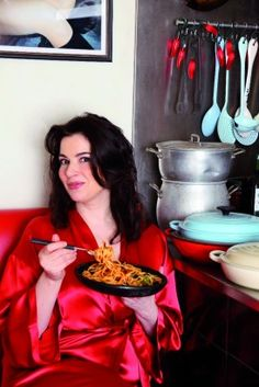 Nigella Lawson's Slut Spaghetti (Pasta Putanessca)......just viewed this recipe being made....looks delish!  Rachel Ray has the same recipe...evidently there is some history behind this sauce.